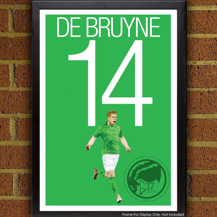 Kevin De Bruyne 14 Poster Vfl Wolfsburg Belgium Soccer