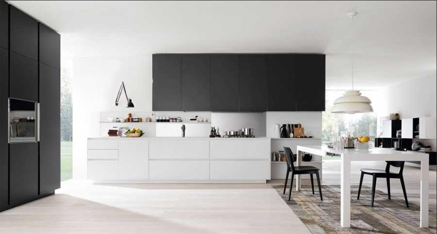 Offene küche planen mit essbereich für moderneinnenarchitektur ...