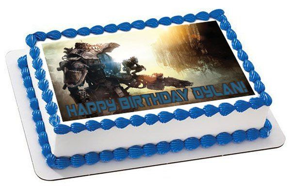 TITANFALL Edible Birthday Cake Topper OR Cupcake Topper Decor