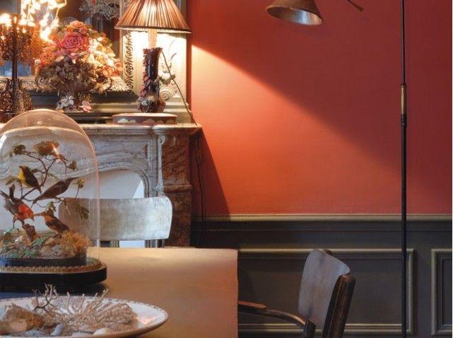 Id e peinture salle manger rouge incandescent et gris anthracite salon pinterest id e for Peintures interieure salon