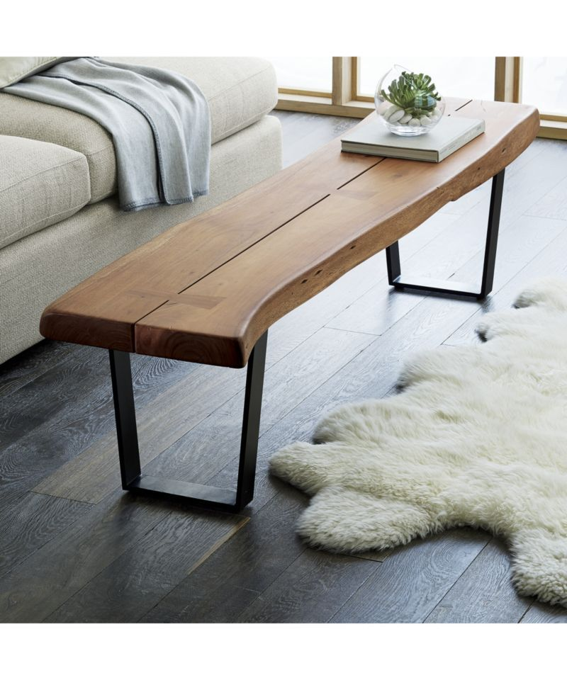 Yukon Coffee Table Bench Crate And Barrel With Images