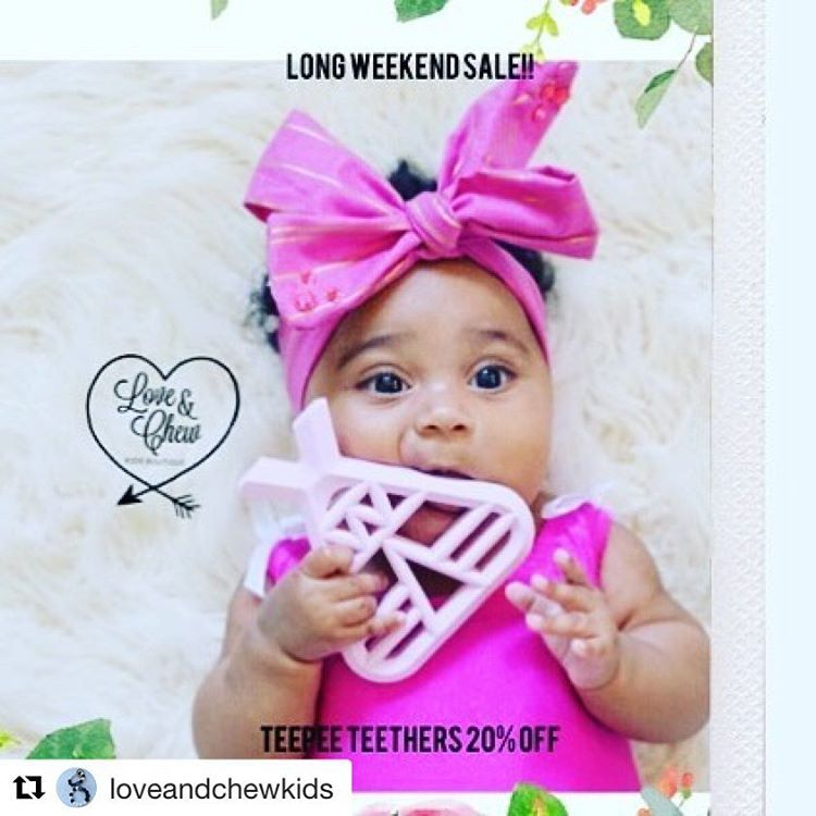 ✨Juliette is proud to be part of such an adorable shop! We love these teethers! Take advantage of this sale while it lasts! ������#Repost @loveandchewkids (@get_repost) ・・・ Teepee Teethers 20% off!! Happy Long Weekend!! #pregnancy #fashionmini #igshop #etsyseller  #teethingring #newborn #shopsmall #celebrity #toddlers #octopus #baby #toddlerswag #babygift #potd #toddler #newbaby #teethingnecklace #kids #supportsmallshops #ootdbaby #teething #cookie #etsyshop #shoplocal #teepee #salem…