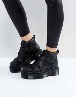 Chic Styles Dr Martens Beaumann Cross Strap Flatform Boots U97w5341