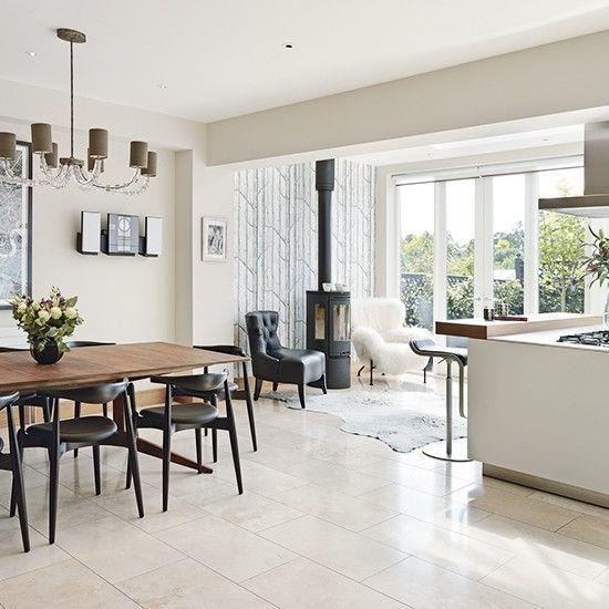 Modern Kitchen Living Rooms: Wood Burner In Kitchen Diner - Google Search