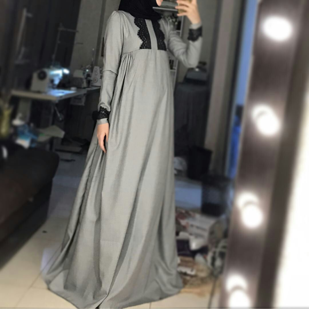 Lace umbrella abaya  Pin by Zahraa Hafez Diab on Abaya Dress  Pinterest  Hijab fashion