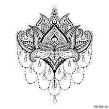Resultado De Imagen Para Tattoo Mandala Flor De Loto Plantilla