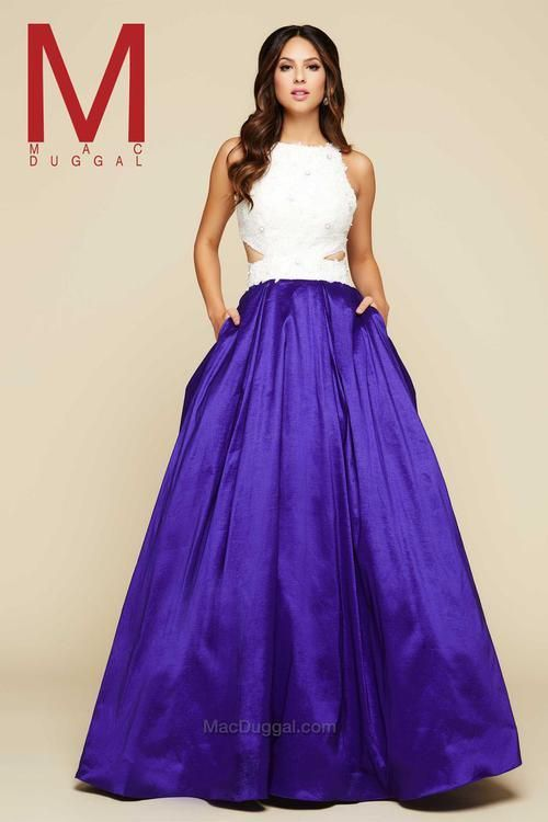 Mac Duggal Royal Purple White | Dresses | Pinterest | Macs, Action ...