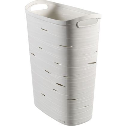 Curver Ribbon White Laundry Hamper At Homebase Be Inspired And