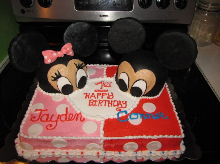 minnie and mickey individual cake Google Search Party Time