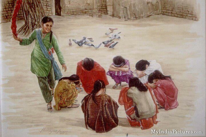 Old Indian Games Painting : India Pictures - Funny India