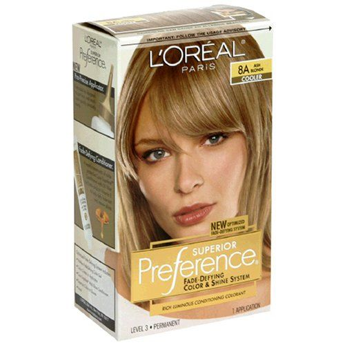 Loreal Superior Preference Hair Color 8a Ash Blonde 1 Ea Pack