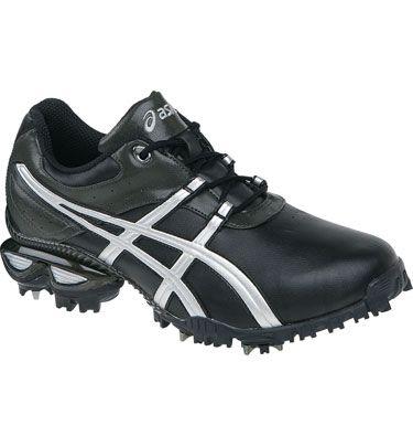 asics mens gel linksmaster golf shoes black/silver