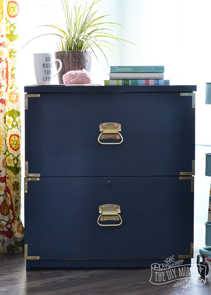 How To Turn An Old Filing Cabinet Or An Old Dresser Into A Gorgeous  Campaign Dresser Inspired Piece With Fat Paint Chalk Style Paint (Amanda  Forrest ...