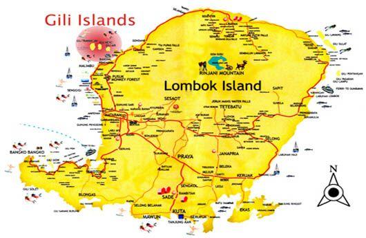 Carte Bali Lombok Gili.Gili Islands Indonesia Map Lombok Island And Gili Islands Map