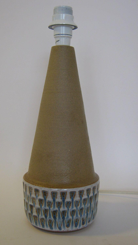 vintage mid century modern soholm born holm ceramic table lamp by nils kahler denmark