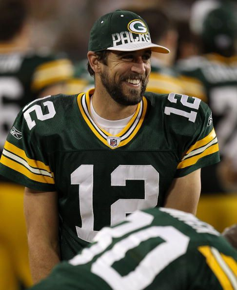 Love Him Aaron Rodgers Beard I Love A Man With A Real Beard And Not Just Five O Clock Sh Green Bay Packers Green Bay Packers Football Green Bay Packers Fans