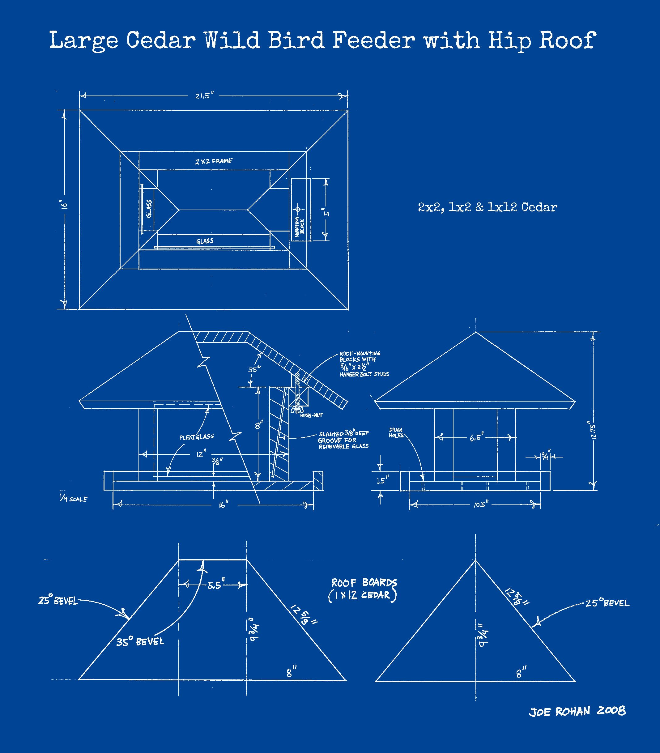 Large Wood Bird Feeder Plans (With images) | Wood bird ...