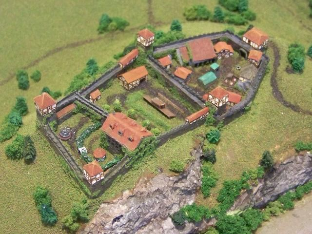 2mm gaming terrain - Castle Von Wenigburg by Caleb