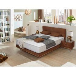 Lonni Boxspringbett inklusive Led Beleuchtung, Material Kunstleder - 180 x 200 cm Möbel-EinsMöbel-Ei #schwarzezimmer