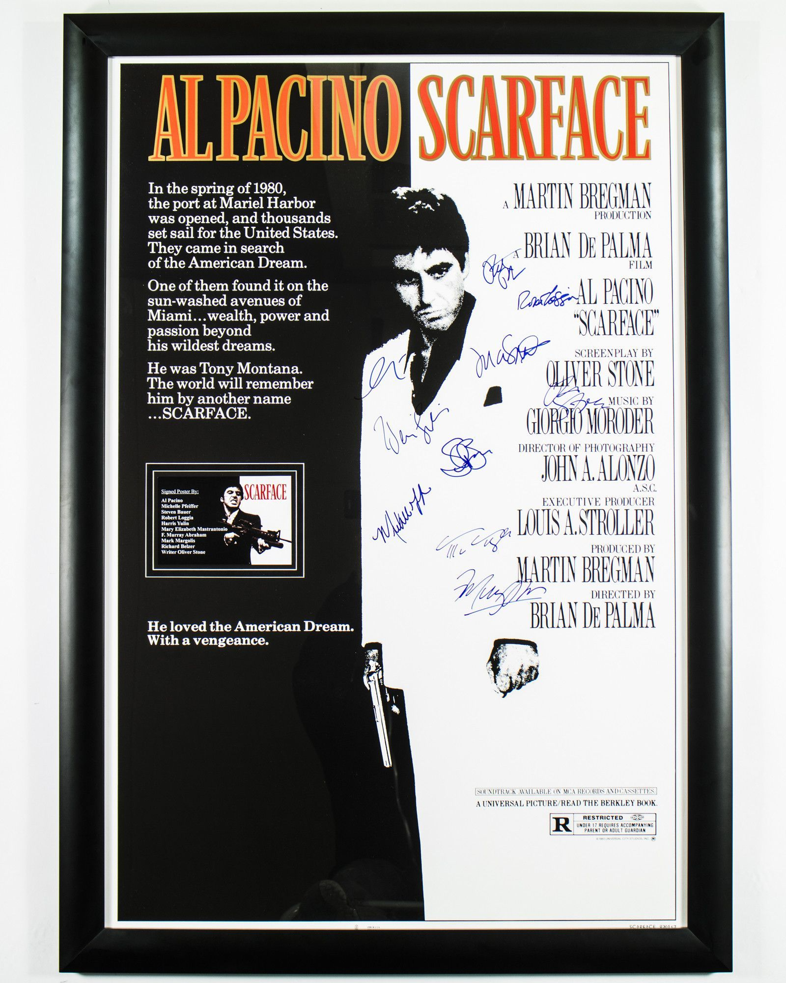 Scarface - Signed Movie Poster | Products