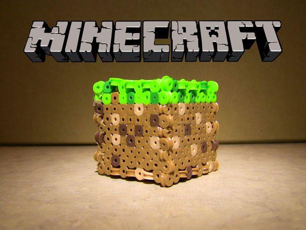 Perler Bead Minecraft Block Minecraft Blocks Perler Beads Minecraft