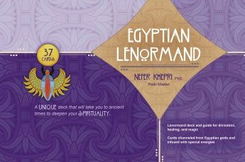 The Egyptian Lenormand - my very first publication. Published by Schiffer books, a 41-card Lenormand deck used for divination, and channeled from Egyptian gods & goddesses to also be used for healing & magical manifestation. Available for pre-order at all Amazon sites. Search for the TITLE since Amazon misspelled my last name.