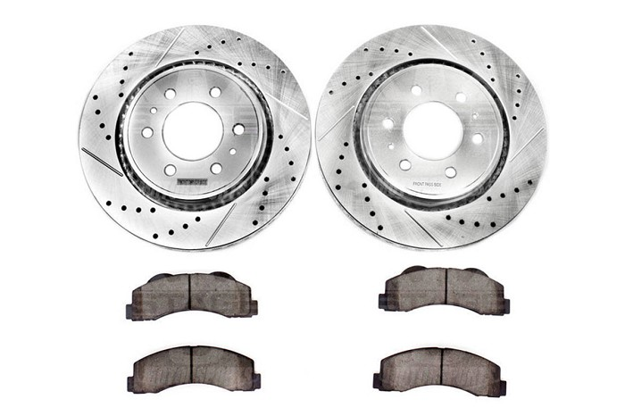 REAR Drill And Slot BRAKE Rotors For 2005-2012 Ford F350 Super Duty Dually