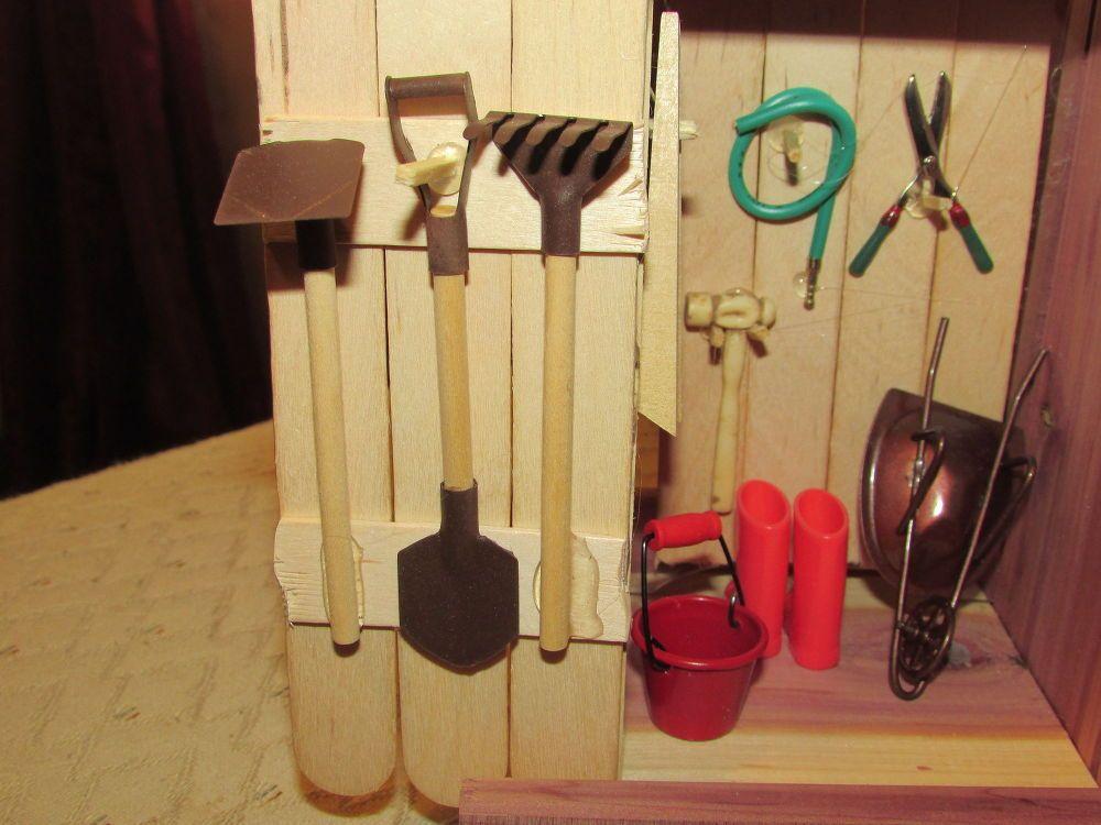Fairy Garden Tool And Garden Shed.