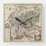 Antique Map of Germany Square Wall Clock#vintage #maps #travel #charts #gifts