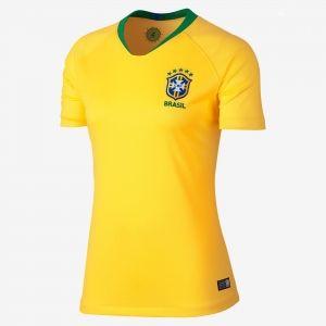 71459e77c 2018 World Cup Women Jersey Brazil Home Replica Football Shirt  BFC846