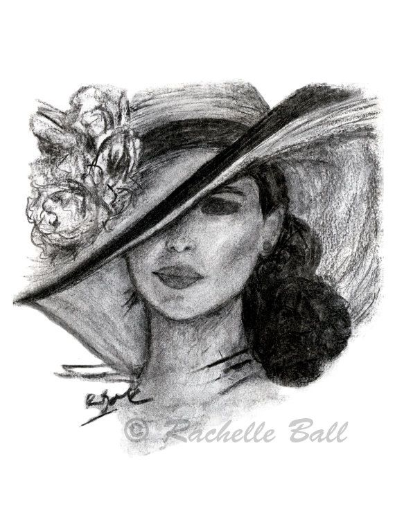 10 Off Holiday Sale Original Charcoal Drawing Art Fashion Print