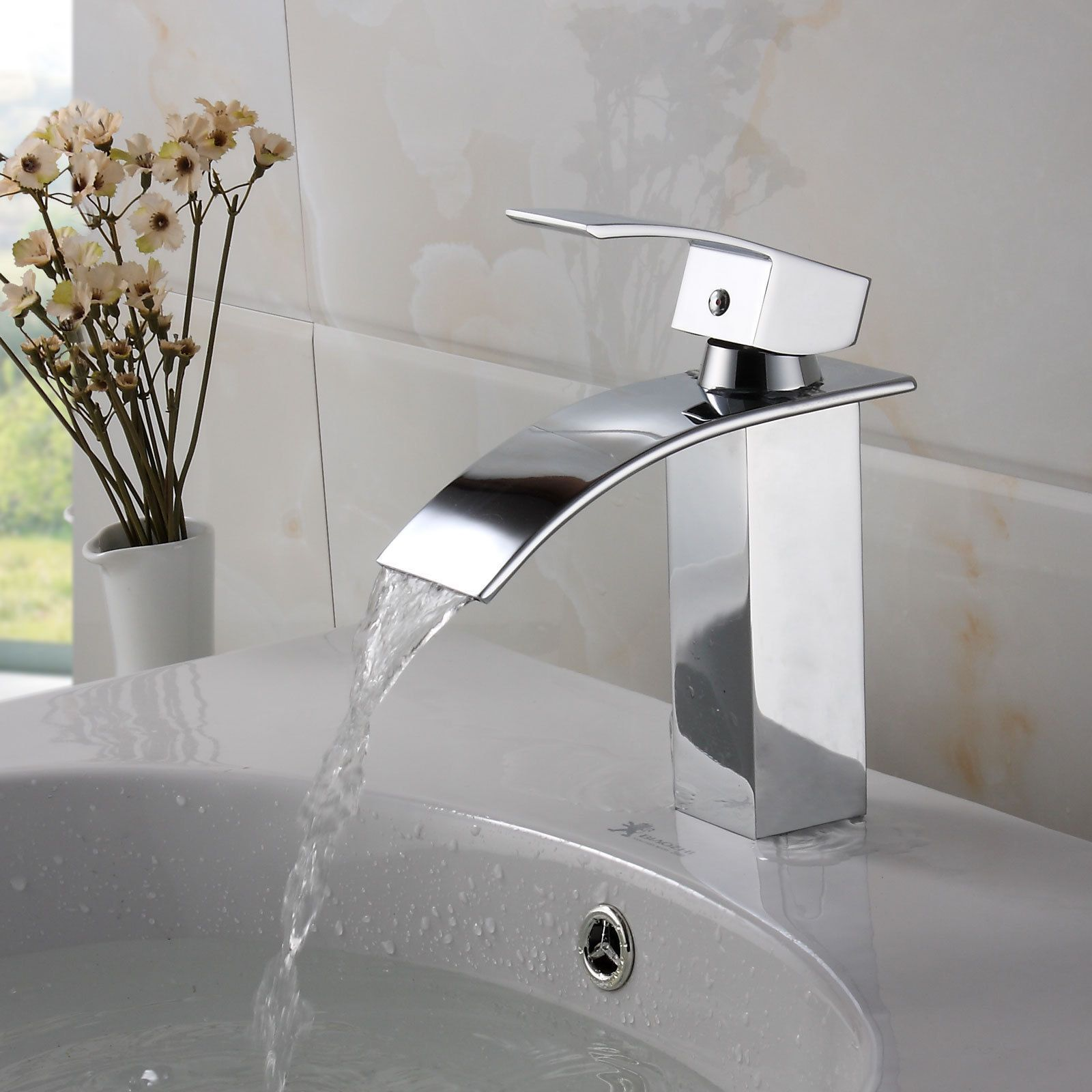 Elite Modern Bathroom Sink Waterfall Faucet Chrome Finish by Elite ...