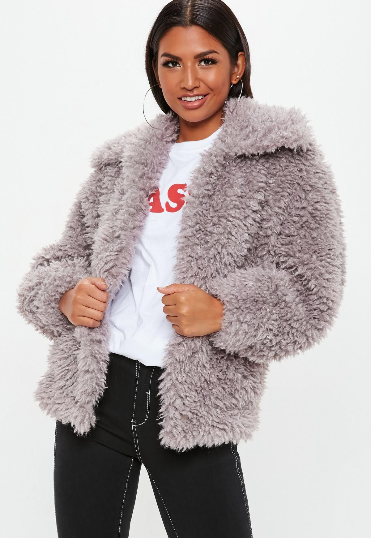 top-rated newest latest trends promotion Mink Boxy Shaggy Borg Teddy Jacket in 2019 | Borg jacket ...