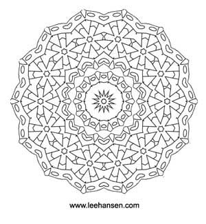 detailed coloring pages for adults flower wheel mandala coloring page