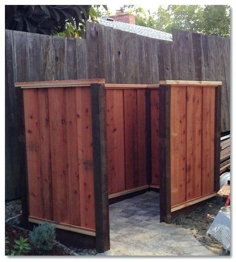 Trash Can Sheds Garbage Enclosure Fence Images Plans