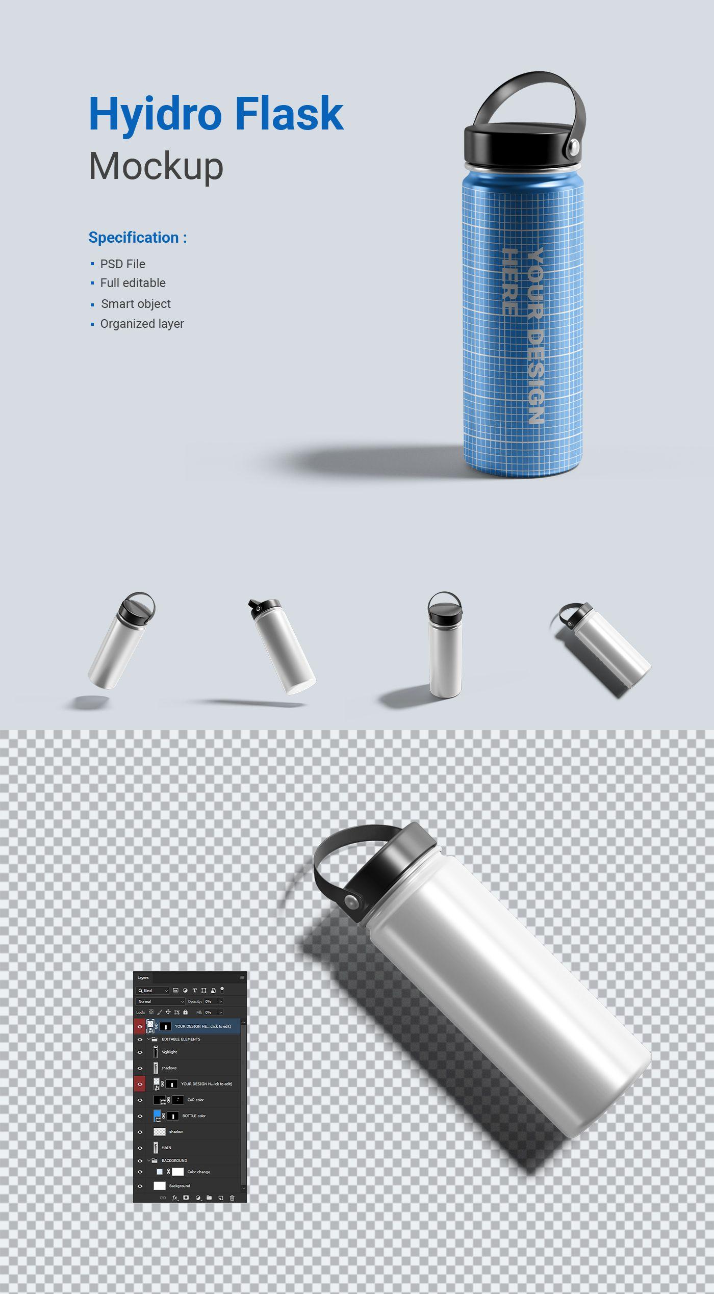 Download Hydro Flask Water Bottle Mockup In 2020 Hydro Flask Water Bottle Bottle Mockup Flask Water Bottle