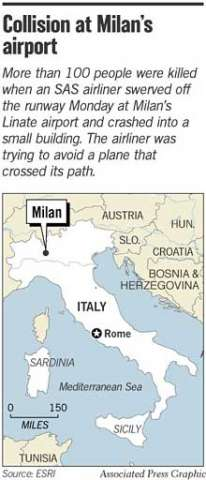 Milan Airport Crash Kills 118 Cessna Strayed Into Big Jet S Path In 2020 Cessna Crash Airport