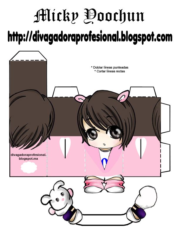 DIY paper toy TVXQ  Balloons   DIVAgadora Kpoper Profesional: Micky Yoochun