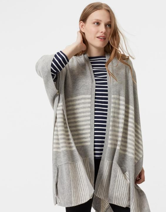 Joules Patti Women Knitted Poncho Style Cardigan   Poncho