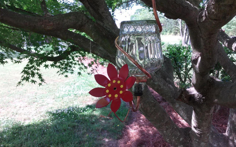 Unique handmade hummingbird feeder Humming bird feeders