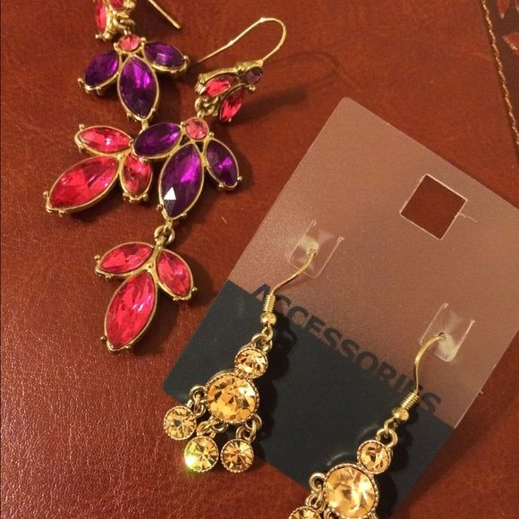 Express Earrings plus another pair express  earrings. Used. Plus another pair new. Express Jewelry Earrings