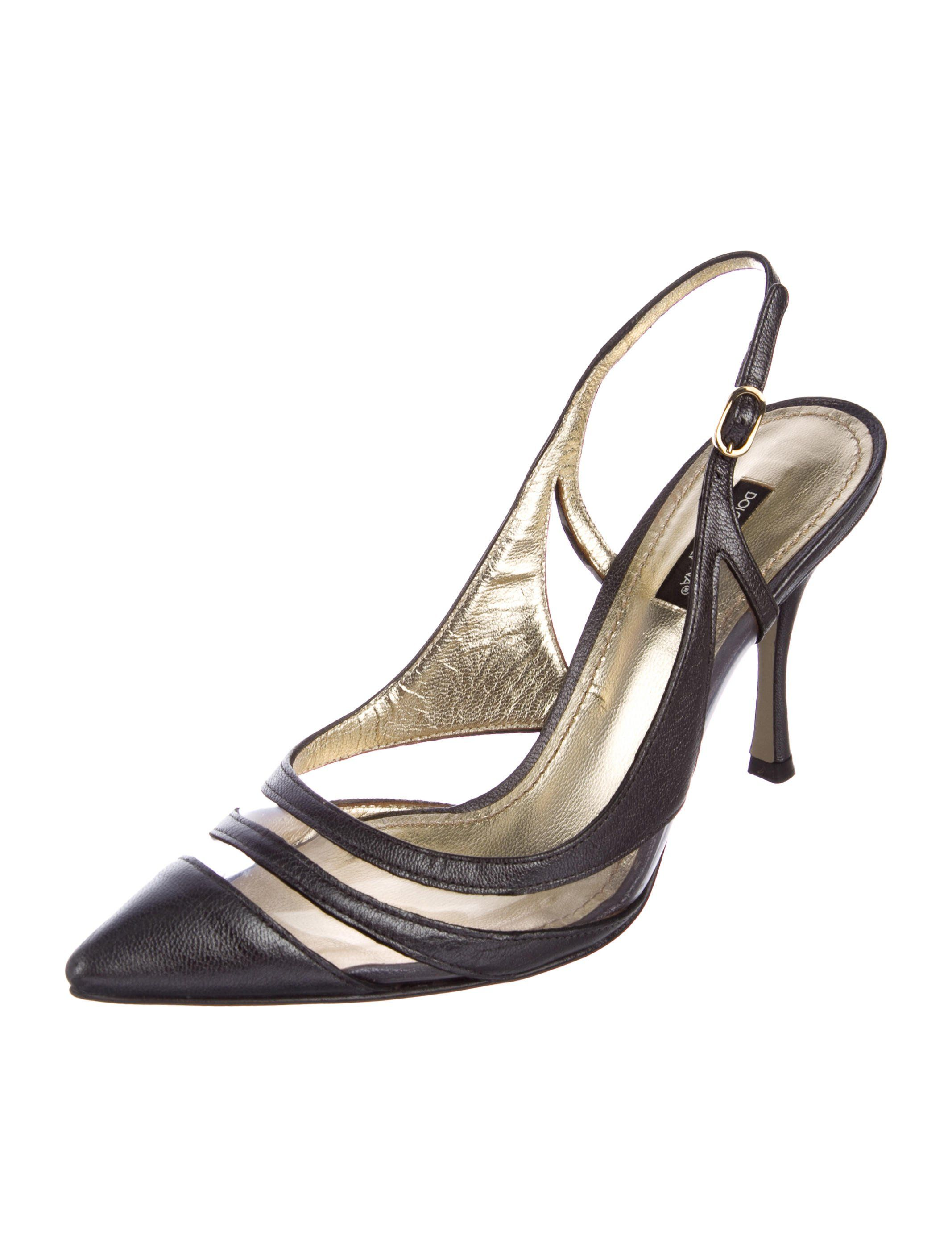 441e0795205 Metallic pewter-tone leather Dolce   Gabbana pointed-toe pumps with clear  PVC stripe embellishments at vamps