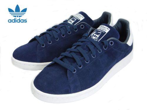Mens-Adidas-Stan-Smith-Originals-Classic-Sneakers-New-Navy-Blue-Suede-M21282 7964e4d38