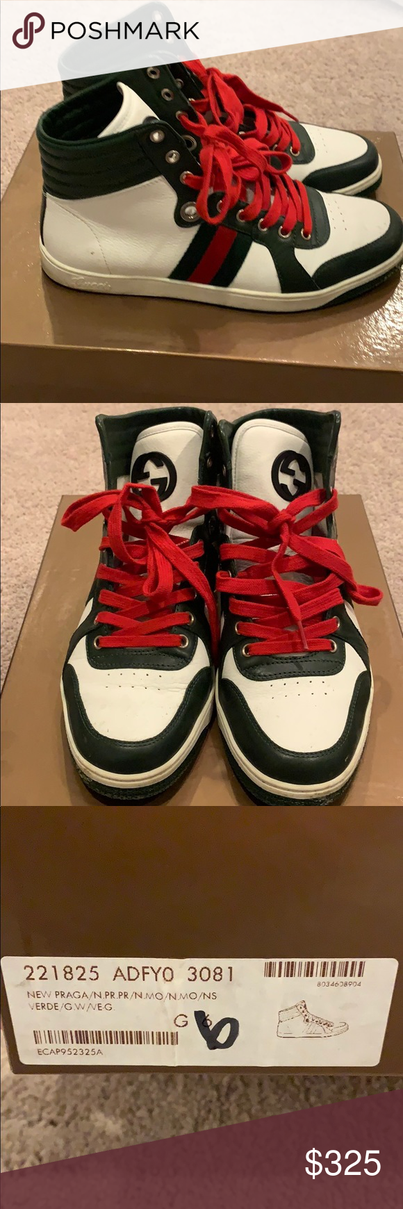 11223e5f717 Authentic Gucci sneakers Dust bags
