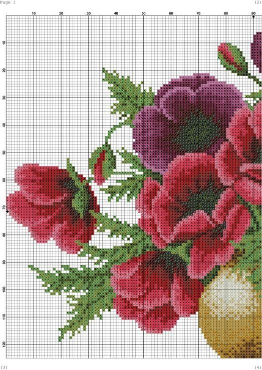 Gallery.ru / Фото #4 - 10 - kento | Цветы, вышитые ...