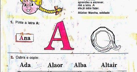 Pin De Maria Aparecida Em Atividade Para Alfabetizar Cartilha