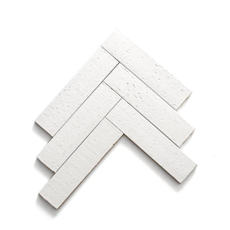 Cle Basics Modern Farmhouse Brick Matte White Rectangle 2 1 2 X9 1 2 X3 8 Thin Brick Tile Brick Tiles Modern Farmhouse