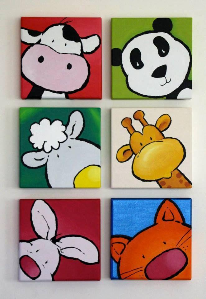 Composicion six animales cuadros infantiles pinterest - Composicion cuadros ...