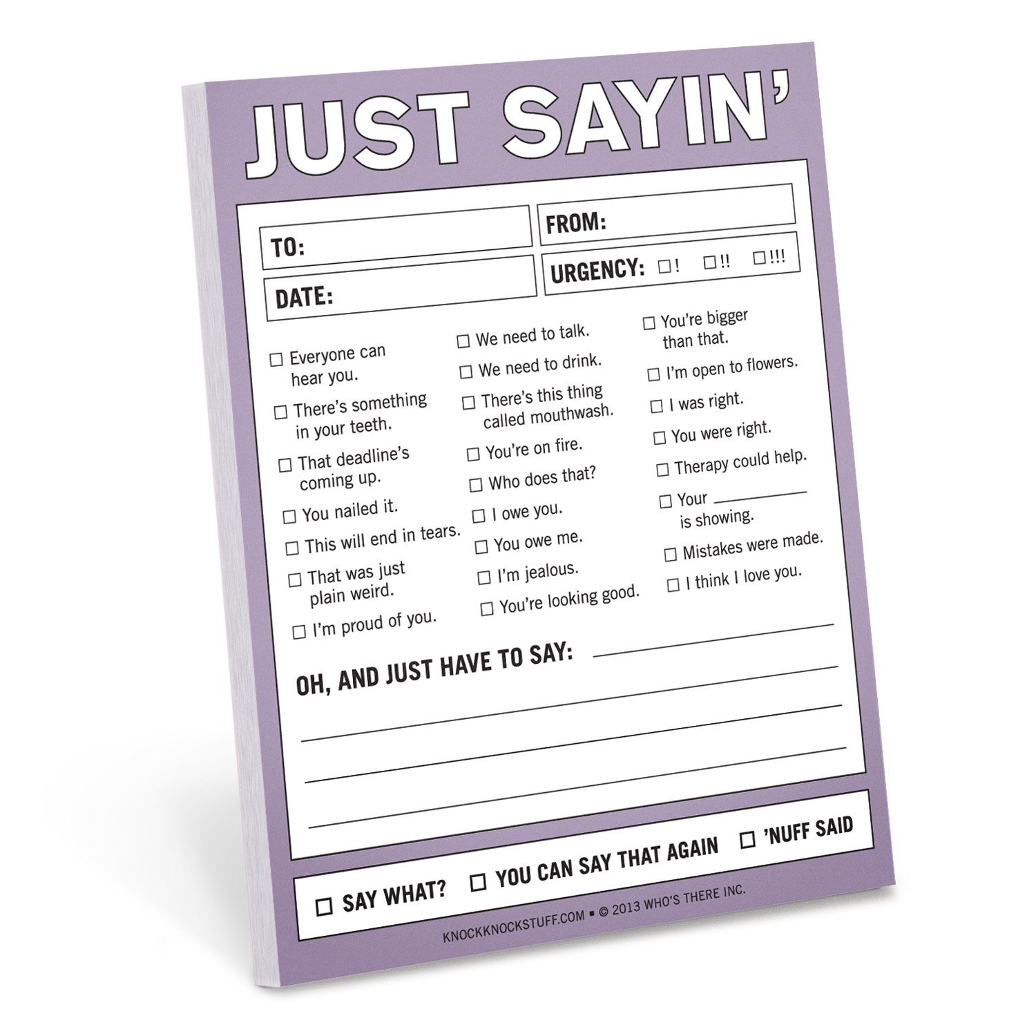 fun office accessories. Knock Just Sayin\u0027 Nifty Notepads Are Funny Office Allow Brutal Honesty. Cool Stationery, Fun Desk Accessories, Gifts For Coworkers. Accessories