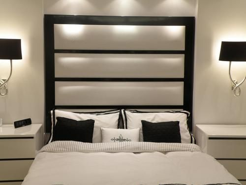 Headboard King Size Black White Decoraciones De Dormitorio